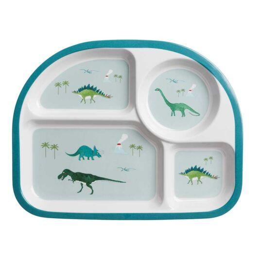 Dinosaurs Children's Melamine Divider Plate