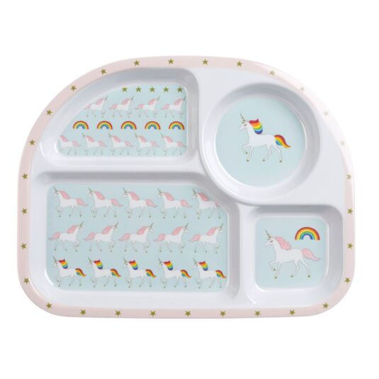 Unicorns Children's Melamine Divider Plate
