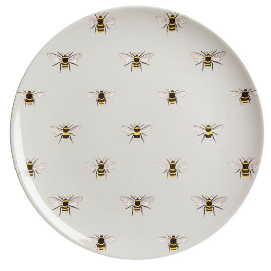 Bees Melamine Dinner Plate