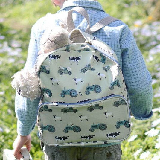 On The Farm Oilcloth Back Pack