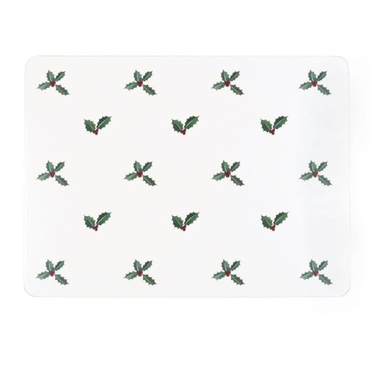 Christmas Holly & Berry Set of 4 Placemats