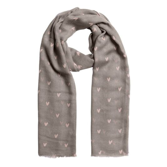 Hearts Printed Scarf
