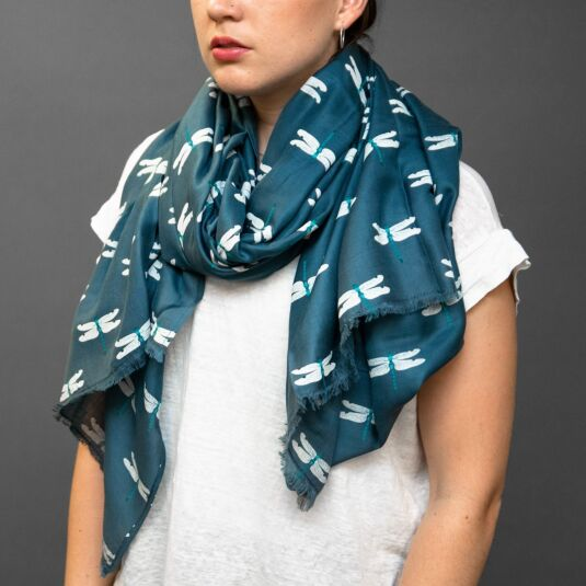Dragonfly Printed Scarf