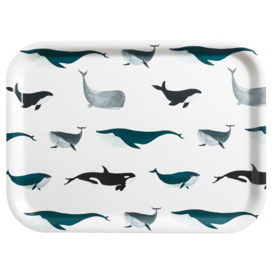 Whales Small Printed Tray