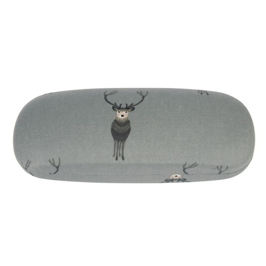 Highland Stag Hard Oilcloth Glasses Case