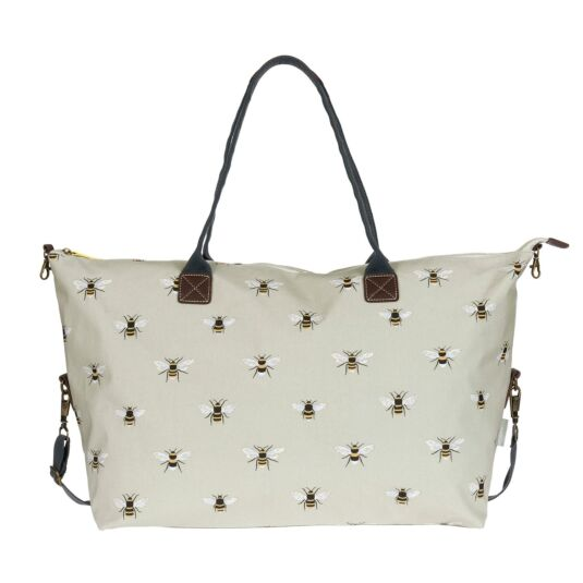 Bees Oilcloth Oundle Weekend Bag