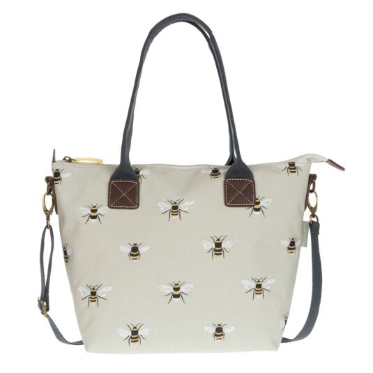 Bees Mini Oilcloth Oundle Bag