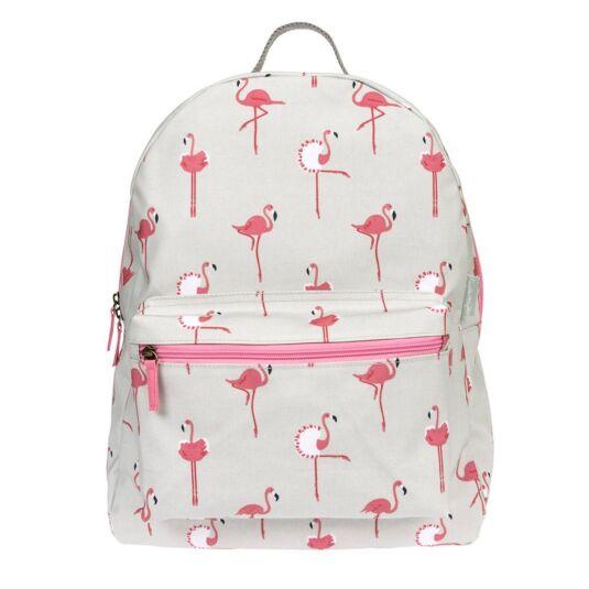 Flamingos Oilcloth Rucksack
