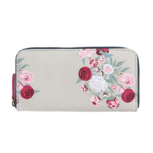 Peony Oilcloth Wallet