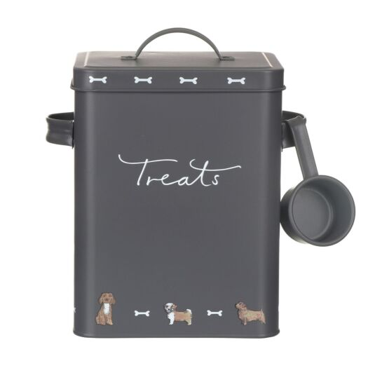 Woof Dog Food Tin With Scoop Walkies Small