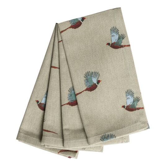 Pheasant Set of Four Napkins