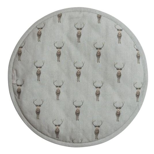 Highland Stag Circular Hob Cover