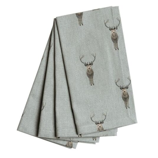 Highland Stag Set of Four Napkins
