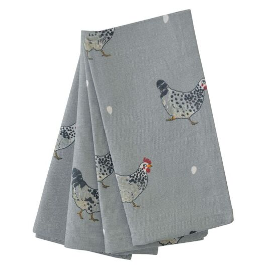 Chicken Set of Four Napkins