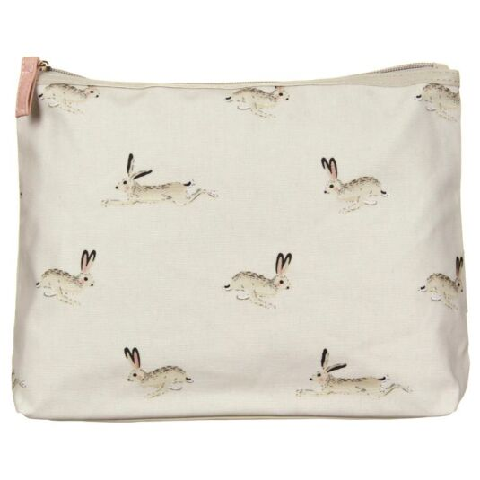 Hare Oil Cloth Wash Bag