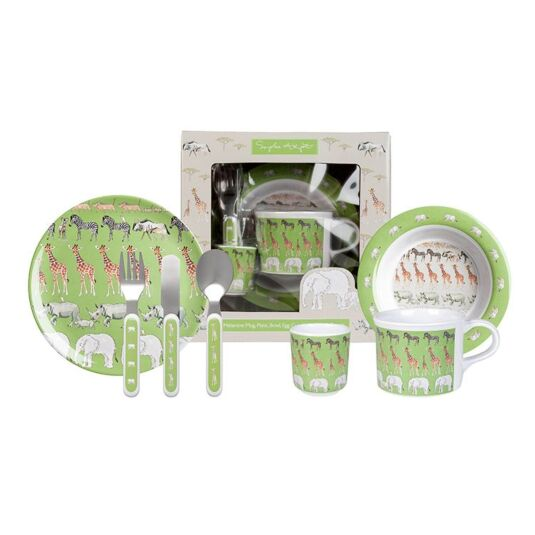 Safari Children's Melamine Set