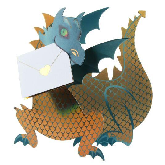 Ember Dinosaur 3D Card