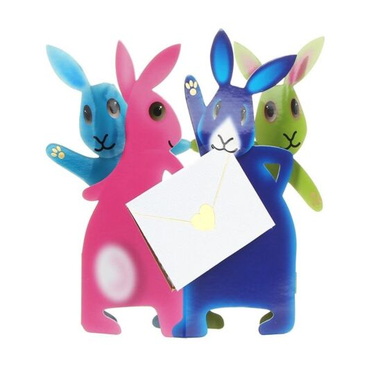 Party Bunnies Greetings Card