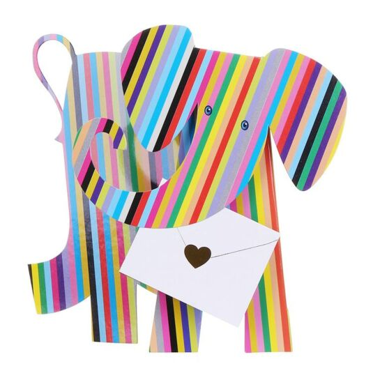 Bon-Bon Elephant 3D Greeting Card