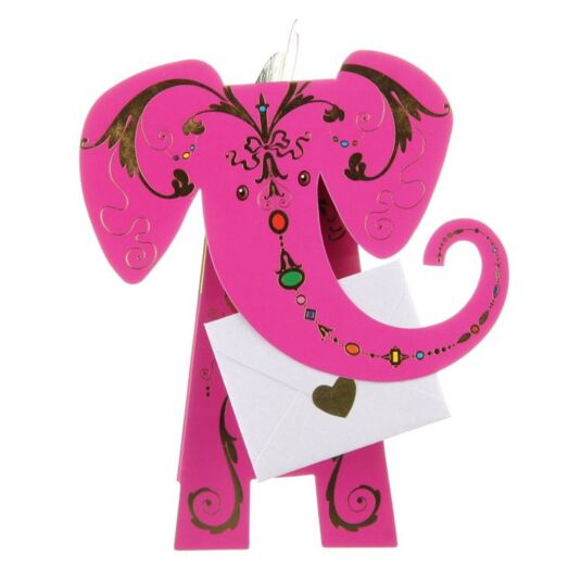 Diva Elephant 3D Greeting Card