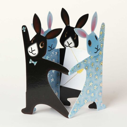 Strictly Bunnies 3D Greeting Card