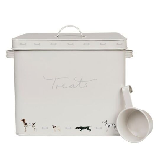 Woof! Dog Food Tin with Scoop