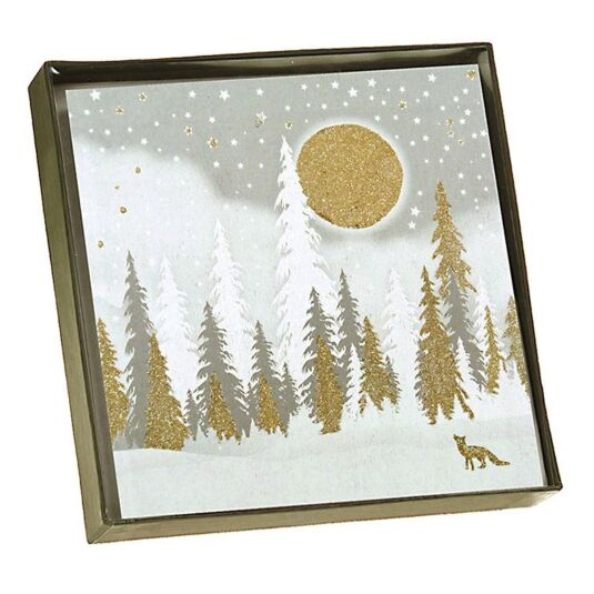 Five Dollar Shake Winter Forest Scene - Box of 6 Christmas Cards ...