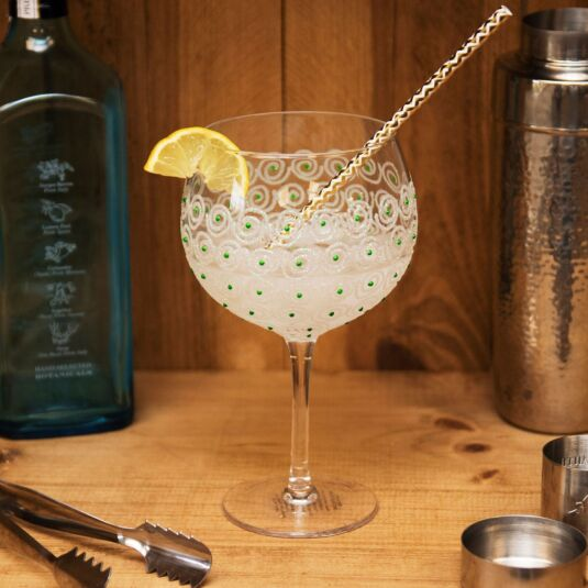 'Green Swirl' Gin Balloon
