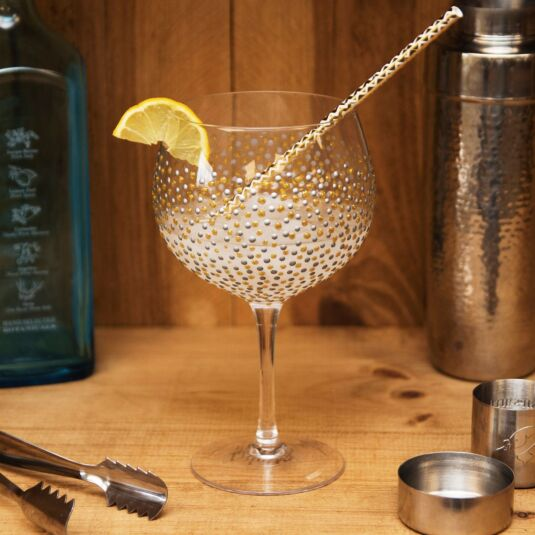 'Gold Dots' Gin Balloon