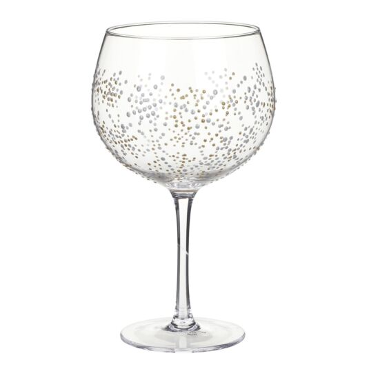 Sunny By Sue 'Gold & Silver Snowflake' Christmas Gin Balloon