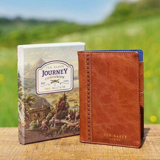 Journey Companion Brogue Travel Wallet with Pen