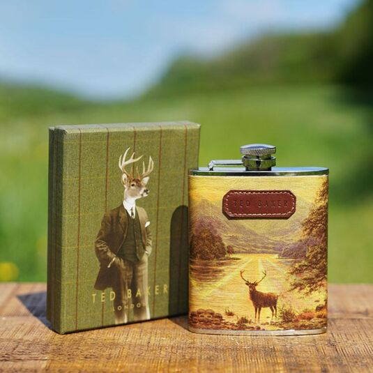 Stag Hip Flask in Giftbox