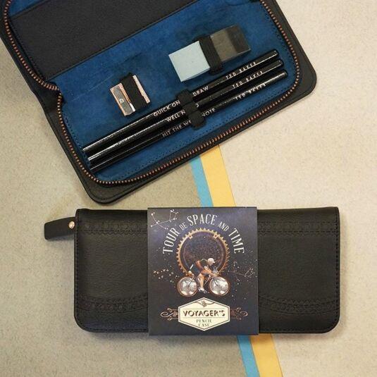 Space & Time Black Brogue Pencil Case