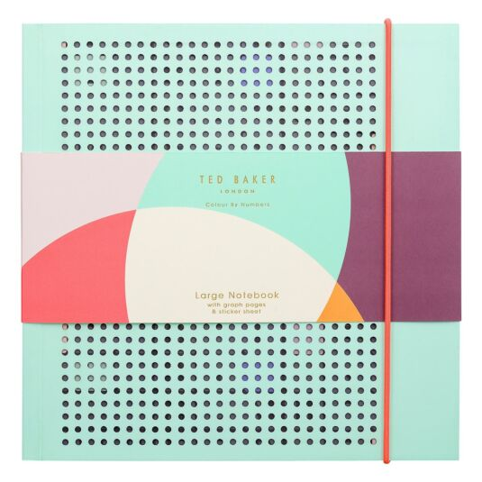 43e22a5099704a Ted Baker Colour By Numbers Large Notebook