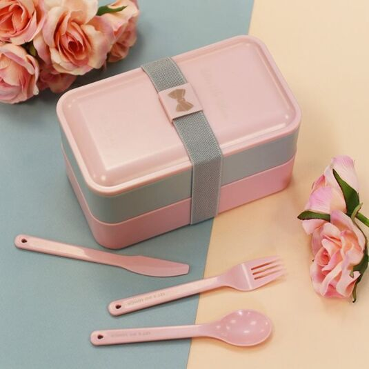08fb756dc26fa9 Ted Baker Pink   Grey Lunch-Box Stack
