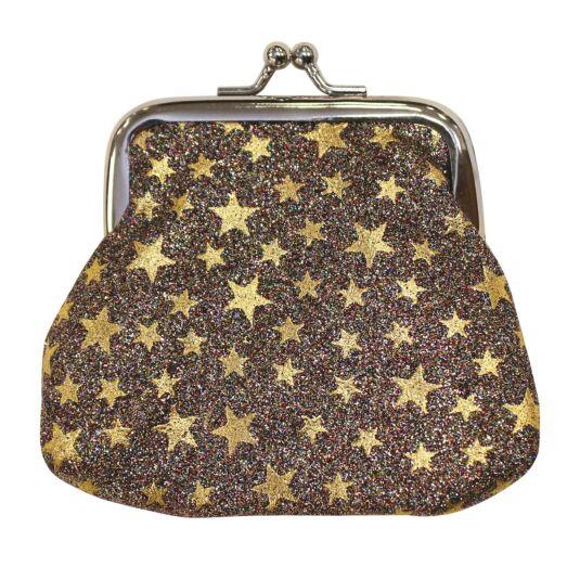 Gold Glitter Stars Purse