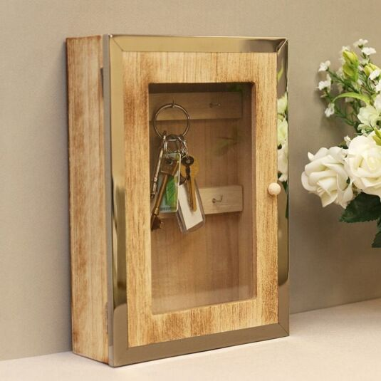 Wood chrome home key cabinet temptation gifts