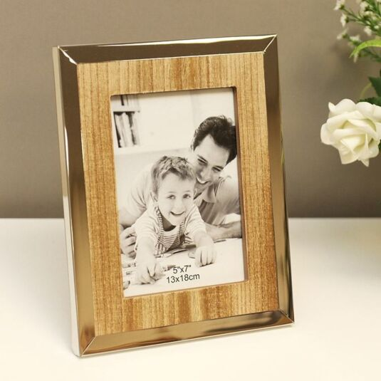 Wooden Frame with Chrome Edge 7x5