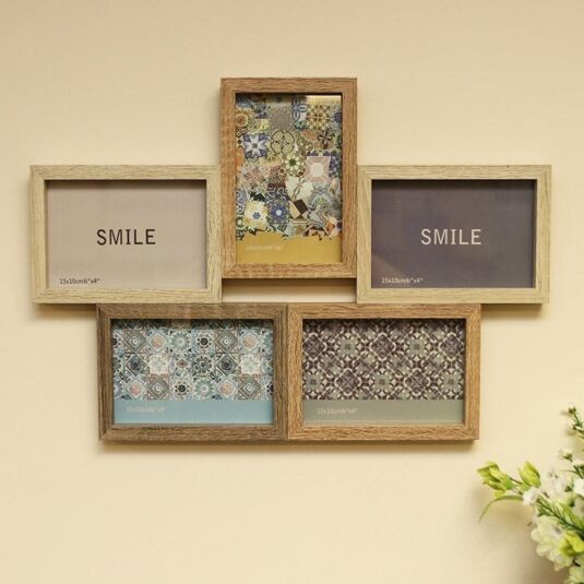Collage Frame with Five Displays | Temptation Gifts