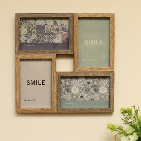 Square Collage Frame with Four Displays