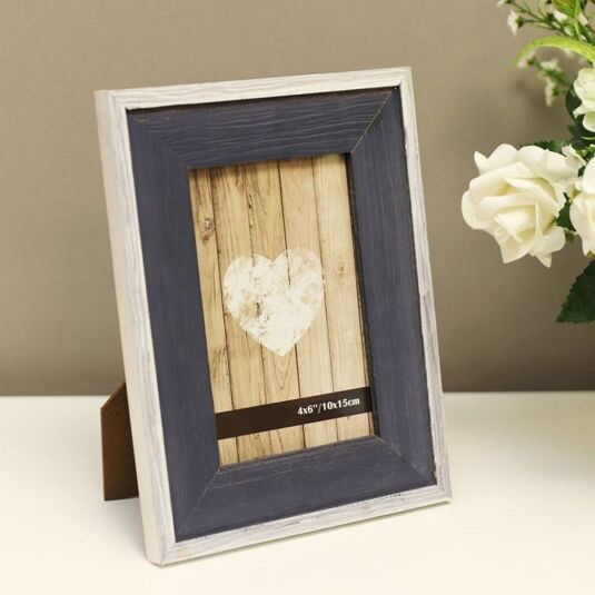"6 x 4"" Blue with White Edge Frame"