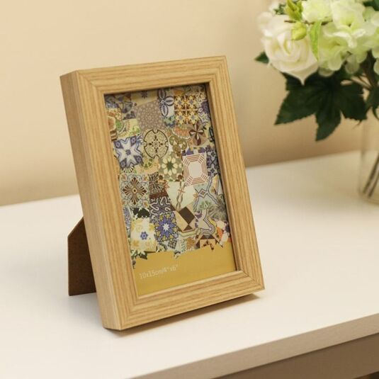 Temptation 6 X 4 Wooden Sofine Frame In Light Brown Temptation Gifts