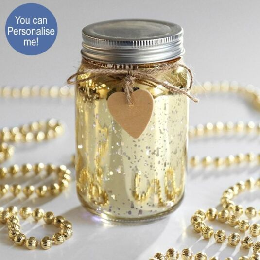 Champagne LED Firefly Jar