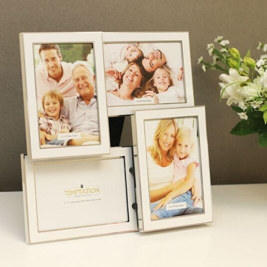 Classic White Collage 4 Photo Frame 6x4 | Temptation Gifts