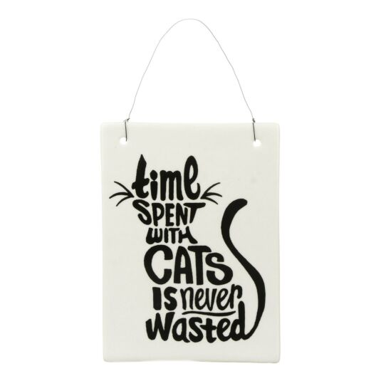 Ceramic Tile Cat Sign