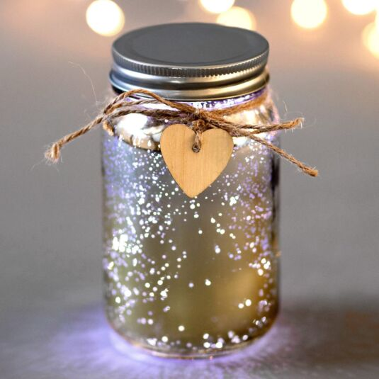 Champagne & Silver LED Firefly Jar