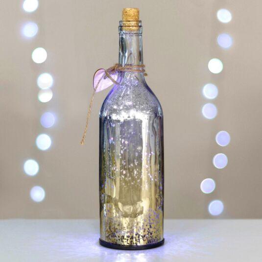 Champagne & Silver LED Firefly Bottle