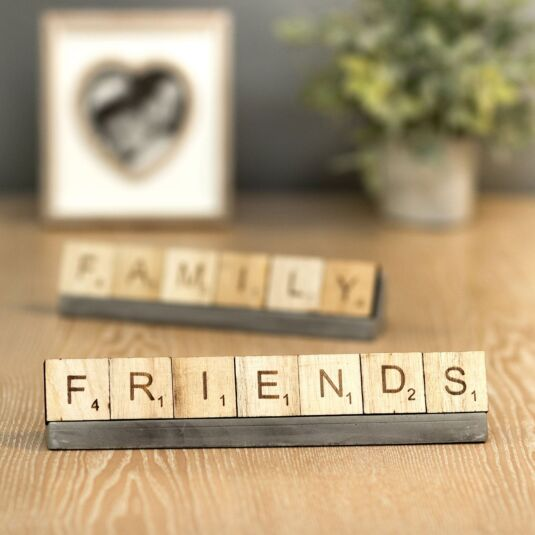 'Friends' Scrabble Tiles & Stand