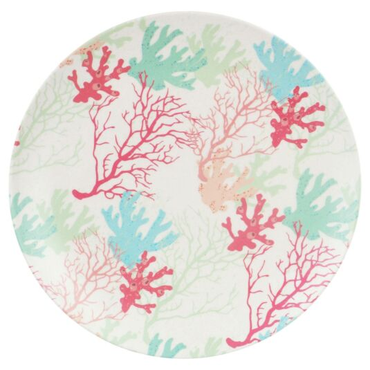 Bamboo Fibre Coral 10 Inch Plate