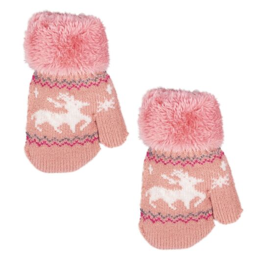 Pink Children's Mittens